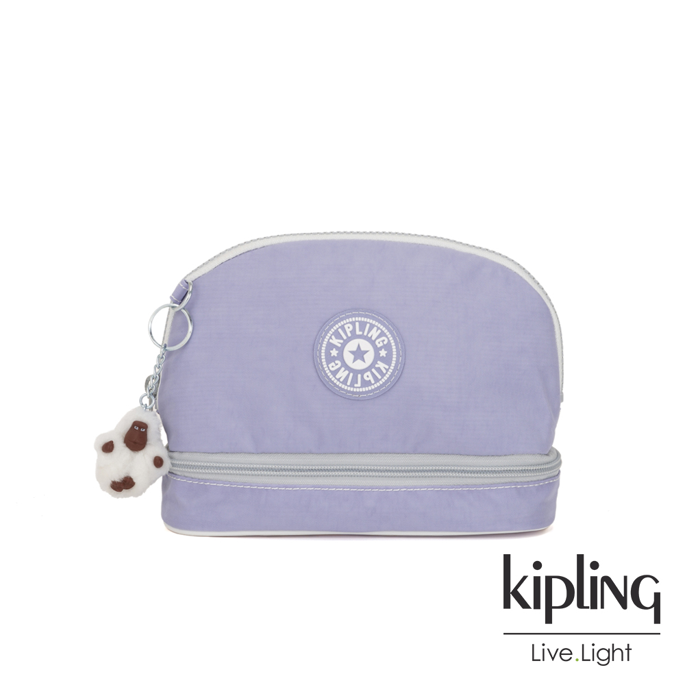 Kipling 法式丁香紫貝殼化妝包-MULTI MAKE-UP
