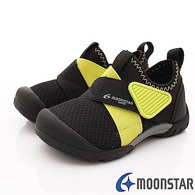 日本Carrot機能童鞋 2E撥水加工襪套款 TW2186黑(中小童段)