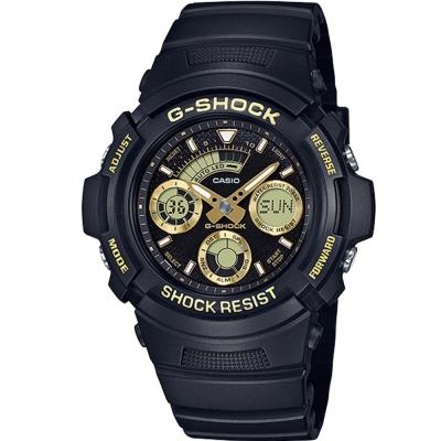 G-SHOCK潮流專屬配件金色系點綴主題設計休閒錶(AW-591GBX-1A9)46mm