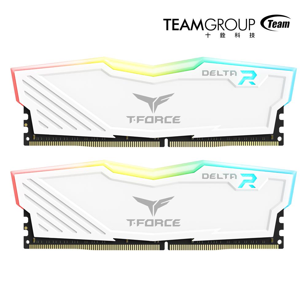 Team十銓 Delta RGB白色 DDR4-3000 16GB(8GB*2)