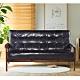 Ally愛麗-日式經典復古沙發150cm-三人坐-皮沙發黑色-強化版組裝好- product thumbnail 1