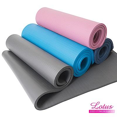瑜珈墊 福利品 台灣製造加長加厚NBR 15mm瑜珈墊-顏色隨機 LOTUS
