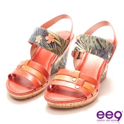 ee9 繽紛夏日質感簡約露趾楔型跟涼鞋  紅色-562372  40