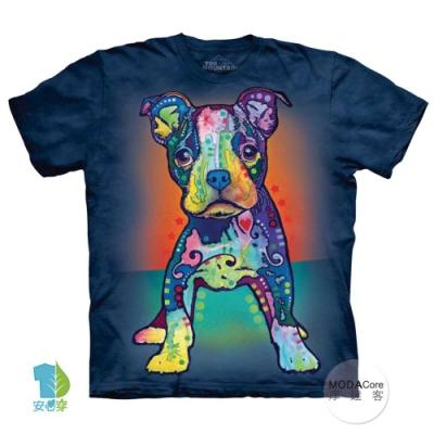 摩達客(預購)美國進口The Mountain 彩繪小㹴犬 純棉環保短袖T恤