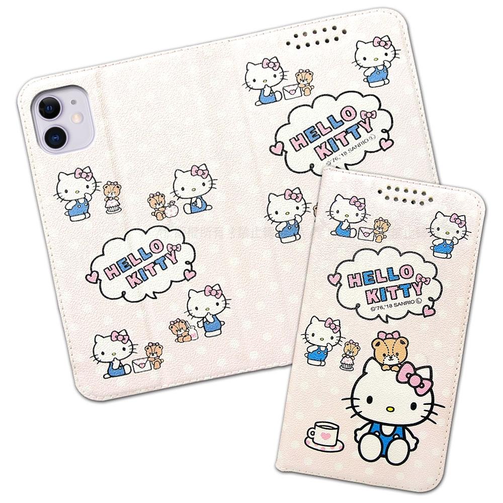 三麗鷗授權 iPhone 11 6.1吋 粉嫩系列彩繪磁力皮套(小熊)
