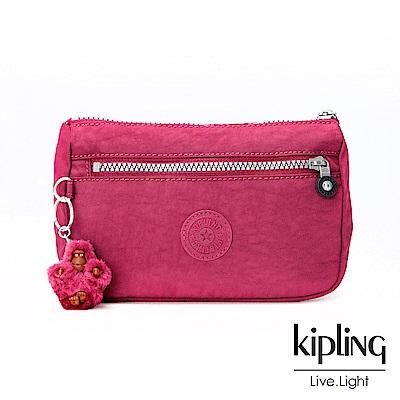 Kipling莓紫素面零錢包(小)