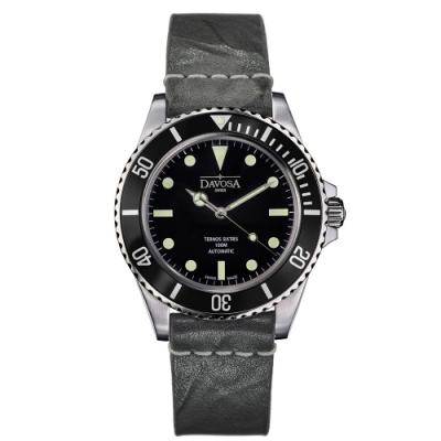 DAVOSA 161.525.555 TERNOS SIXTIES 60 年代復刻專業潛水自動錶/黑水鬼/皮帶/40mm