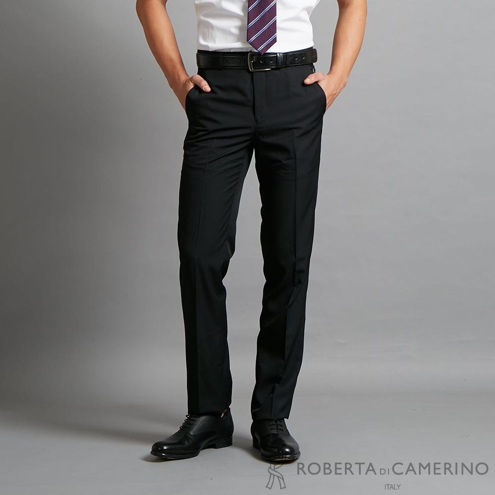 ROBERTA諾貝達 上班族必備 高質感平面西裝褲 黑色