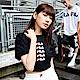 FILA #架勢新潮 女短袖圓領T恤-黑色 5TEV-1427-BK product thumbnail 1