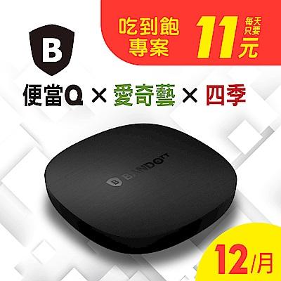 BANDOTT Q便當4K智慧電視盒+愛奇藝影視12個月+四季影視12個月