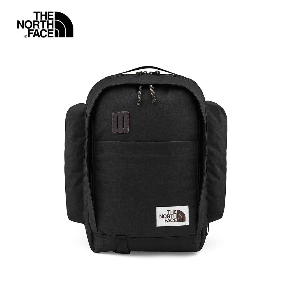 The North Face北面男女款黑色舒適防護休閒後背包|3KY2KS7