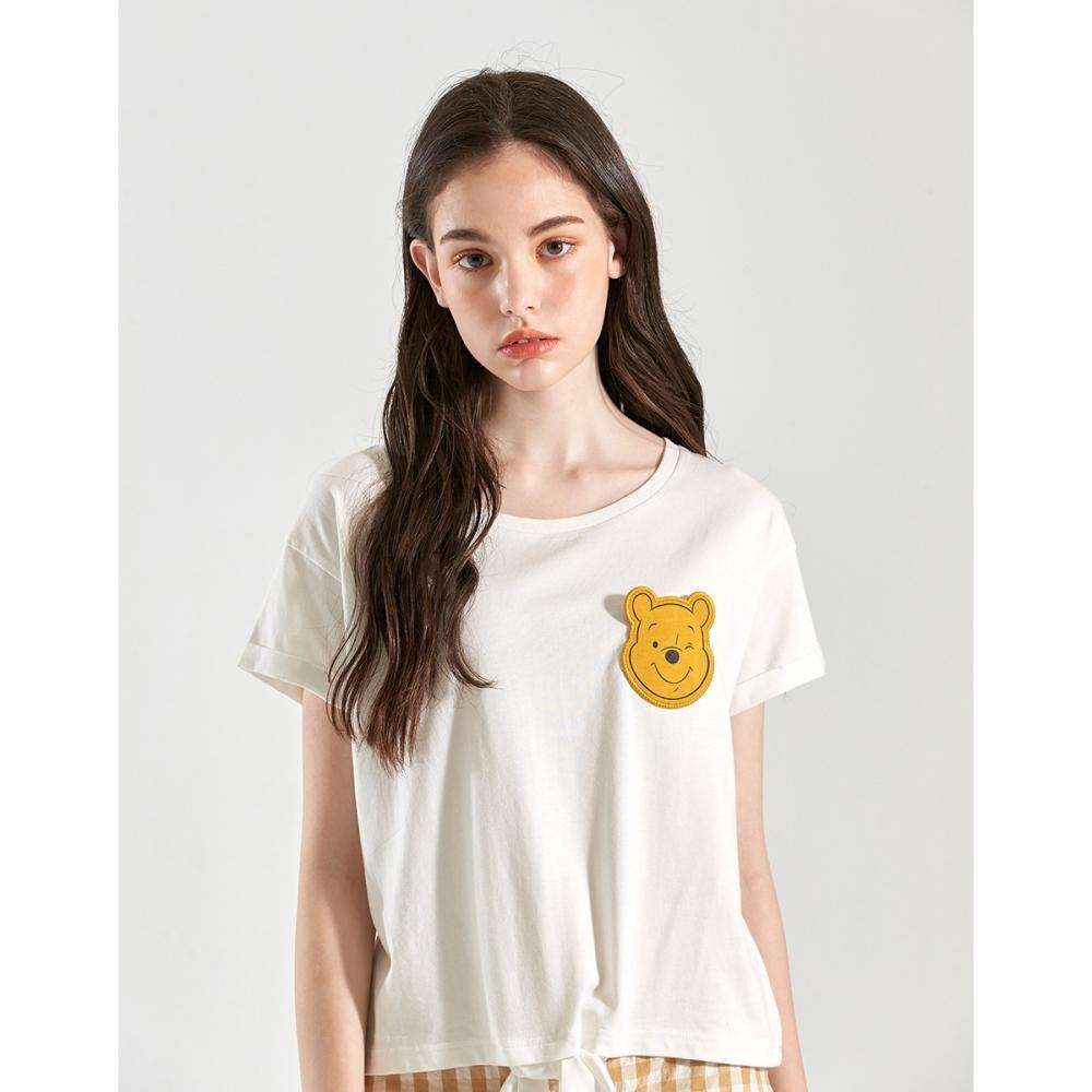 CACO-維尼造型口袋上衣-親子款-女【B2DI028】