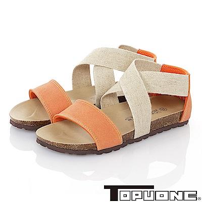 TOPU ONE 親子鞋-輕量減壓腳床型涼鞋童鞋-柑