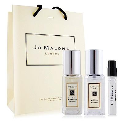 *Jo Malone 青檸羅勒葉 藍風鈴9mlX2 針管1.5ml任選-贈品牌提袋