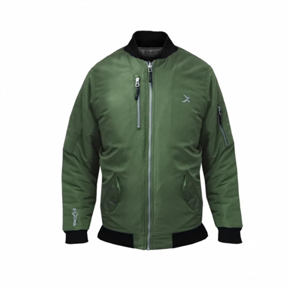 EGXtech 女款經典飛行保暖夾克BJ-MA1W(軍綠)