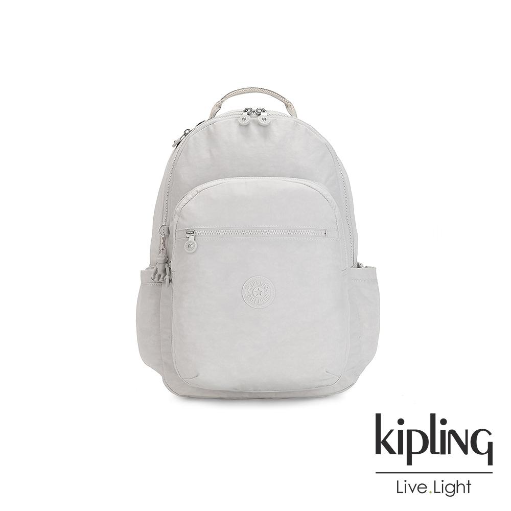 Kipling 探索亮銀灰機能手提後背包-SEOUL