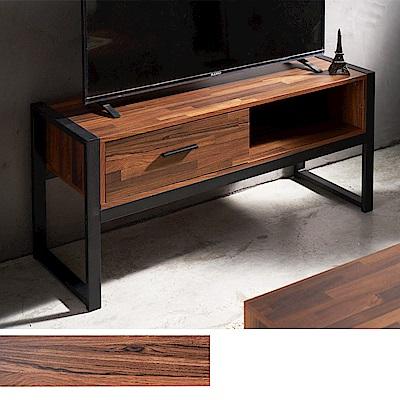 凱堡 拼木工業風電視櫃114公分 抽屜收納/茶几桌/收納櫃/台灣製