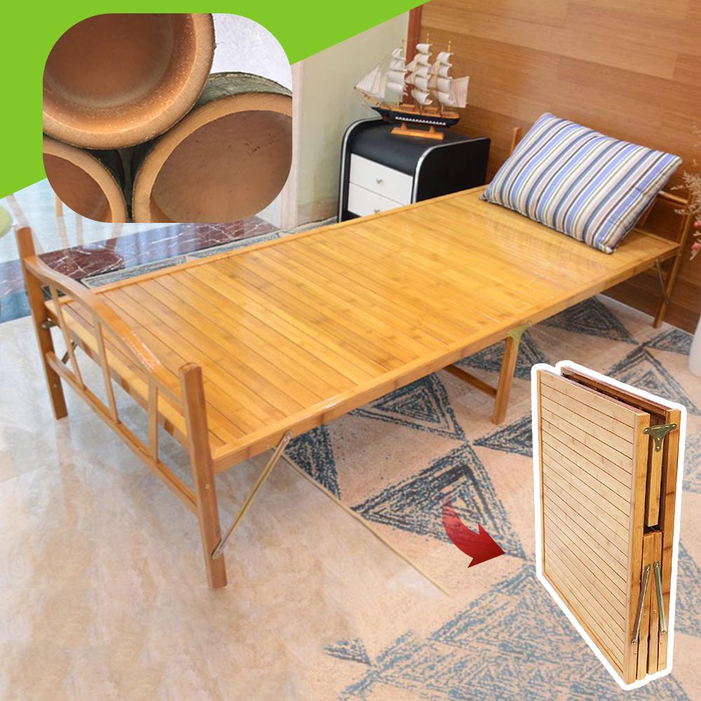 Incare 單人多功能可摺疊收納竹床(贈送床墊/節省空間)