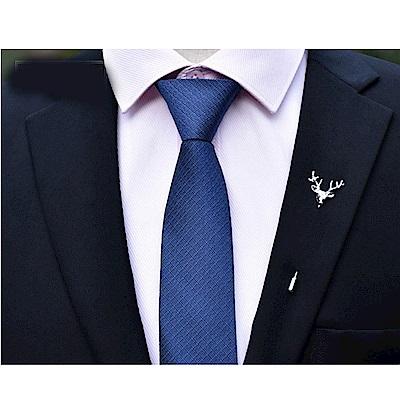 拉福   領帶6cm中窄版領帶精工拉鍊領帶(多色)