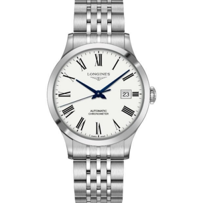LONGINES-浪琴-開創者時尚羅馬機械錶(L28214116)x白x40mm