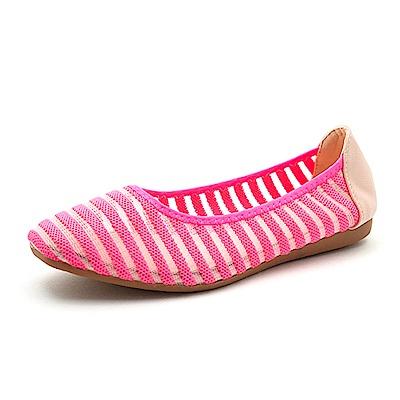 【AIRKOREA韓國空運】透氣網布OL平底休閒便鞋娃娃鞋-粉
