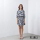 KiKi INLook 幾何玻璃碎片印花洋裝(2色)