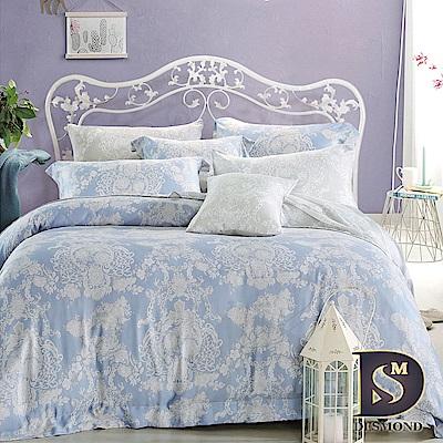 岱思夢 雙人 100%天絲兩用被床包組 愛的華爾曼