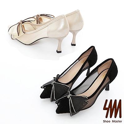 SM-亮麗蝴蝶高跟鞋2色