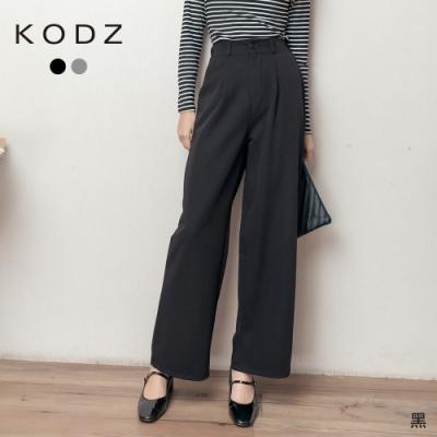 東京著衣-KODZ 長腿姊姊質感落地西裝寬褲-M.L(共二色)
