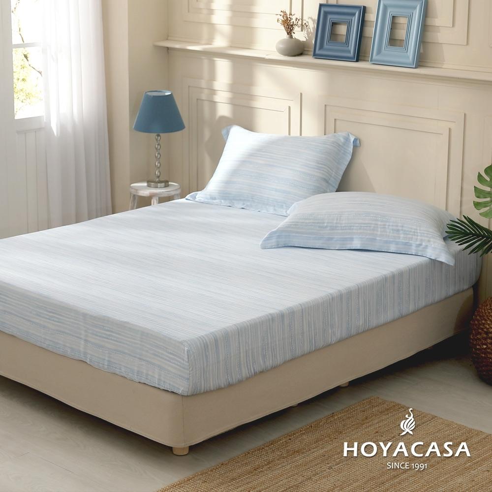 【HOYACASA 】100%天絲枕套床包三件組-多款任選(雙人) (莫格齊B版)