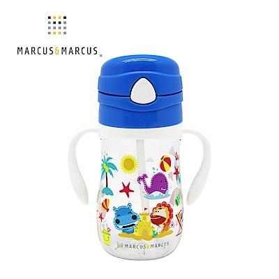 【MARCUS&MARCUS】動物樂園Tritan吸管學習杯-河馬