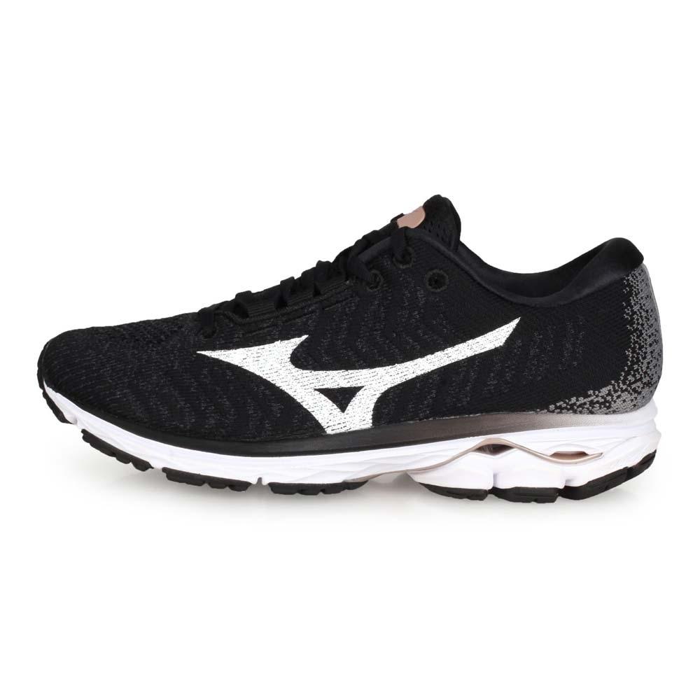 MIZUNO 女 慢跑鞋 RIDER WAVEKNIT 3 黑白灰