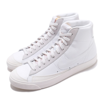 Nike 休閒鞋 Blazer Mid VNTG 77 男女鞋 經典款 情侶穿搭 皮革 簡約 球鞋 白 米白 CW7583100