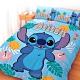 享夢城堡 雙人加大床包涼被四件組-迪士尼史迪奇Stitch 阿囉哈-藍 product thumbnail 1