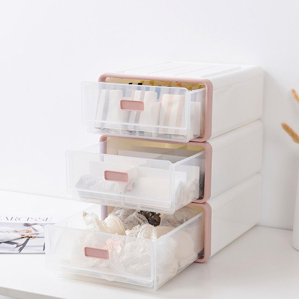 【Mr.box】日式抽屜式內衣小物整理盒收納箱1組3入 (二色可選)