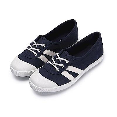 BuyGlasses 清新學院風休閒鞋-深藍
