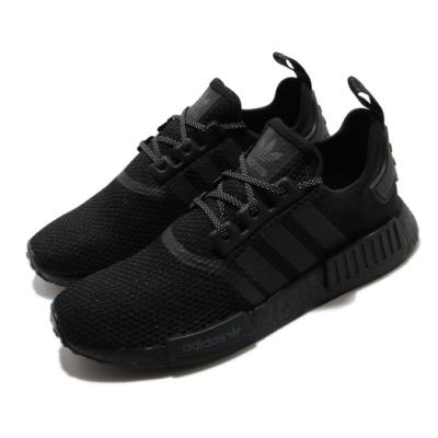 adidas 休閒鞋 NMD R1 襪套式 男女鞋 愛迪達 三葉草 Boost 情侶穿搭 黑 白 FV7969