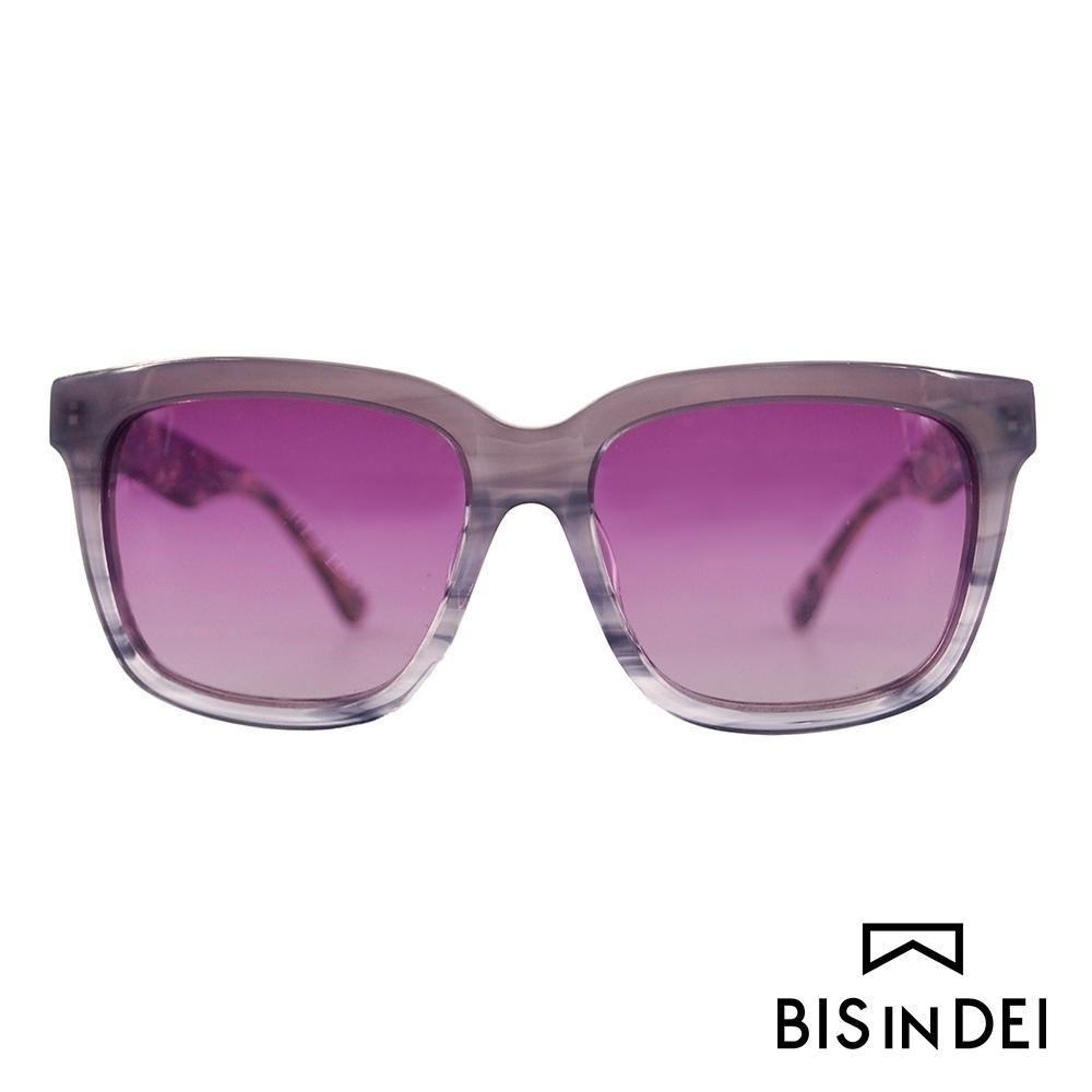 BIS IN DEI 撞色大方框太陽眼鏡-紫