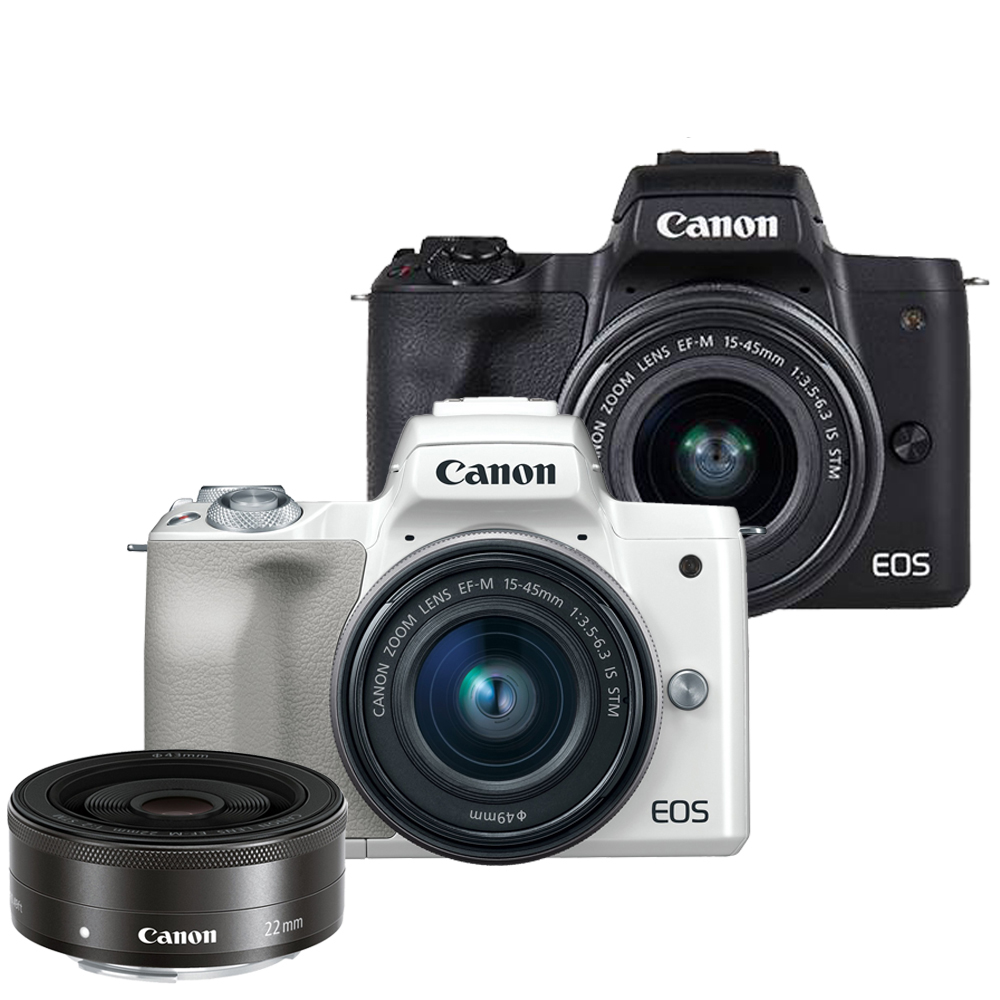 CANON EOS M50+15-45mm+EF-M 22mm 雙鏡組*(中文平輸)