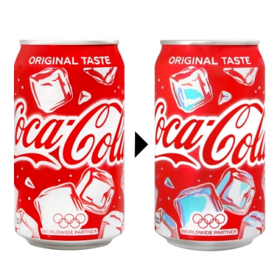 Coca Cola 可口可樂-變色瓶(350g)