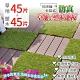 【家適帝】可拼接卡扣式仿真草地&塑木地板(草地45片+塑木45片)每片約0.4坪 product thumbnail 1