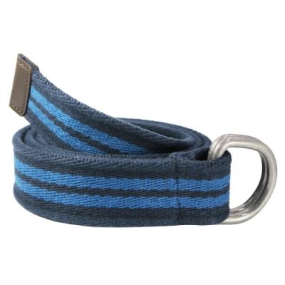 CH-BELT雙藍配色條紋純棉棉織帶腰帶皮帶(藍)