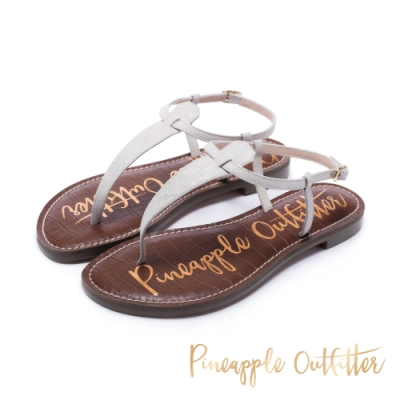 Pineapple Outfitter 經典真皮平底涼鞋-白色
