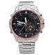EDIFICE CASIO 卡西歐英式紳士不鏽鋼腕錶-黑x玫瑰金框/46mm product thumbnail 1