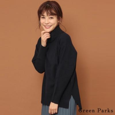Green Parks 寬版舒適反折高領針織上衣