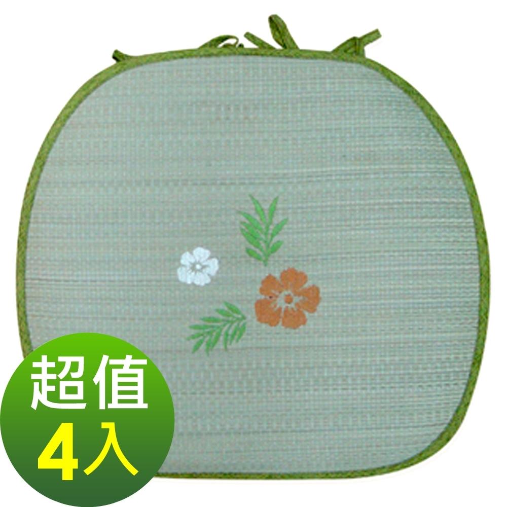 范登伯格 - 仲夏頌 藺草餐椅墊 - (4入1組) (38x42cm)