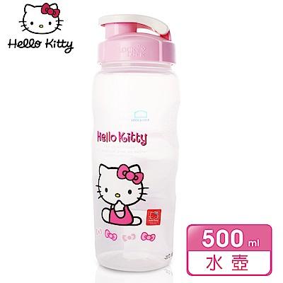 樂扣樂扣 HELLO KITTY 隨行PP水壺500ML(領結甜心)(快)