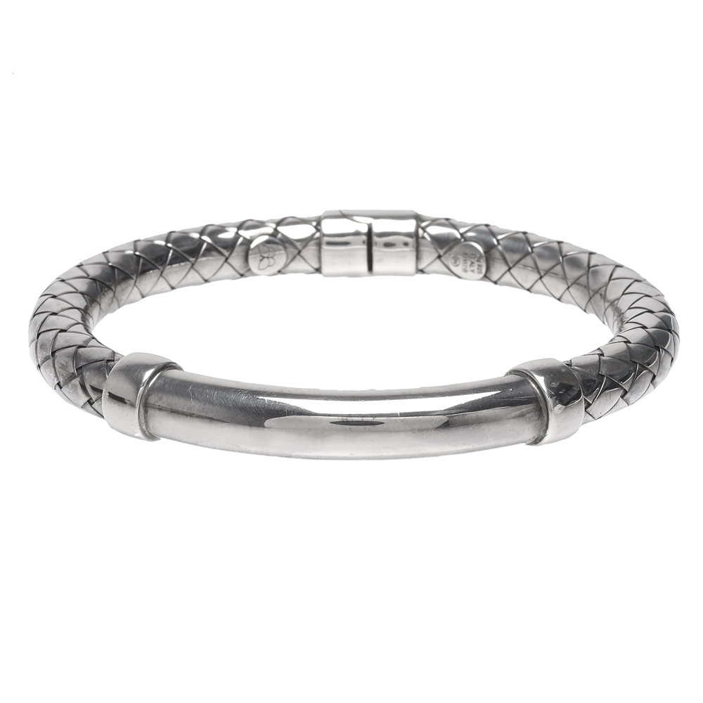 BOTTEGA VENETA 925純銀編織造型手環