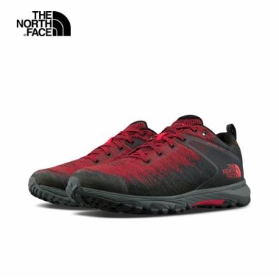 The North Face北面男款紅黑色防水透氣徒步鞋|4PFOKZ3