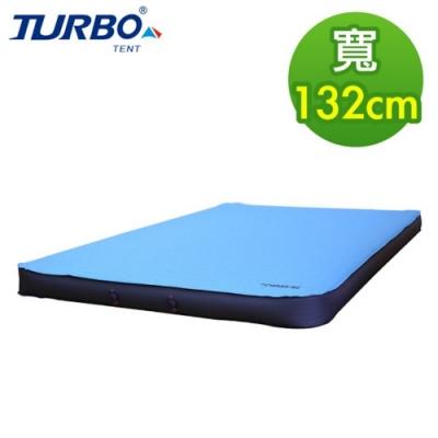 【Turbo Tent】TPU 3D 132cm自動充氣睡墊 10cm厚(四方形更易於拼接 類逗點 充氣床)